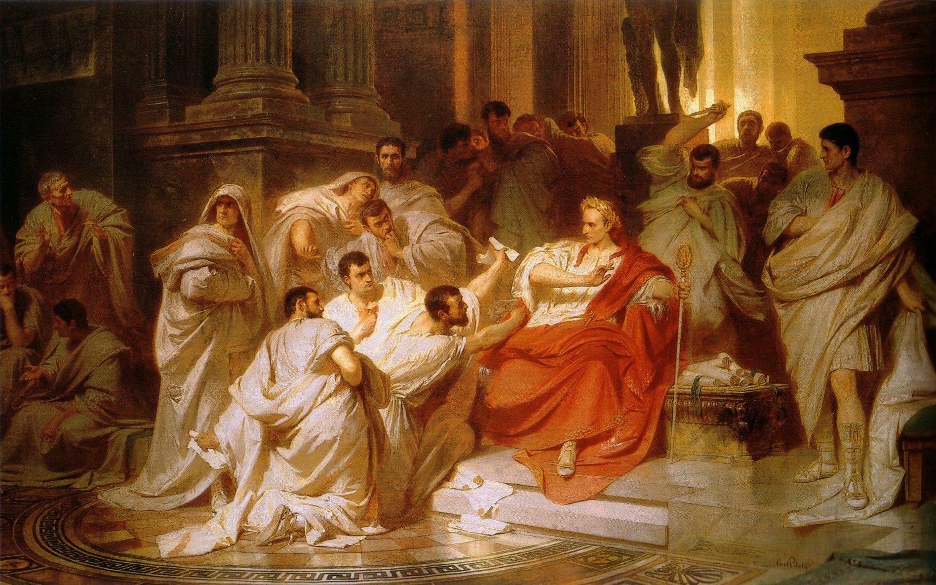 Decimus Brutus attack caesar