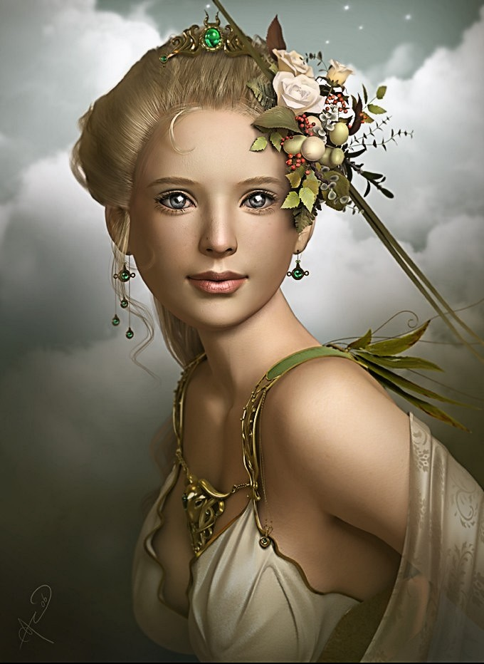 Demeter godess of harvest of grain