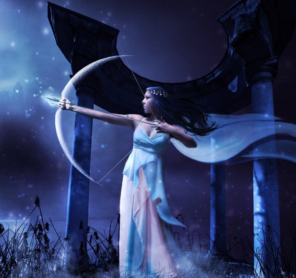Diana, The Goddess of Hunt and Moon