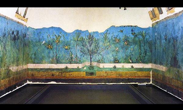 Fresco wall from house of Livia
