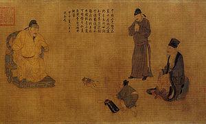 Paneling Lanshan Chinese dress