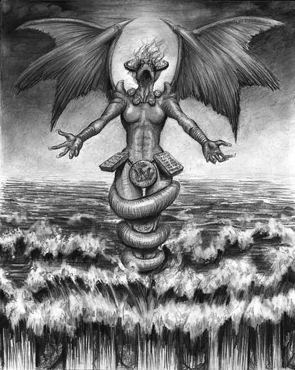 Tiamat- The Goddess of Salt Sea and Mother of Several Deities