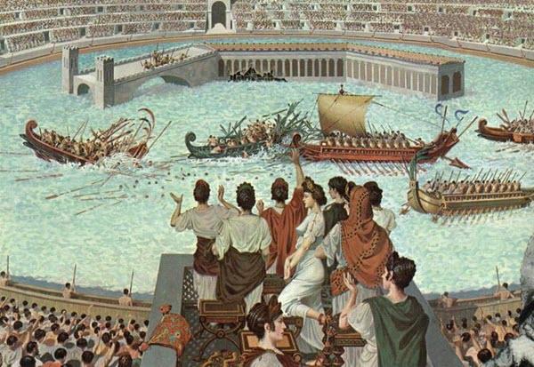 sea battles in colosseum