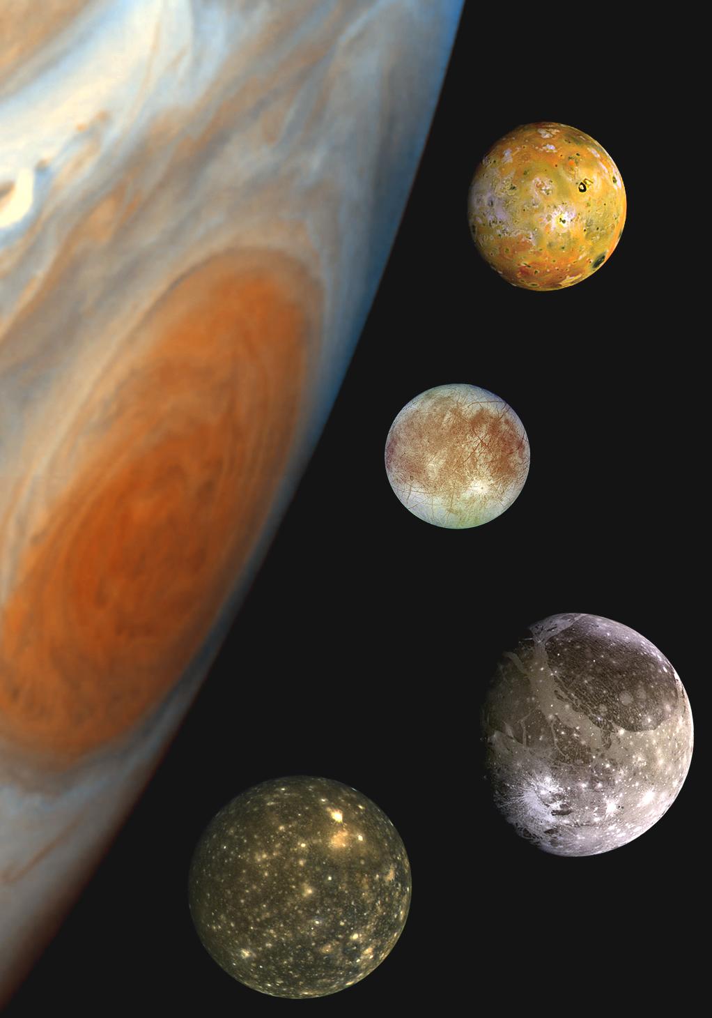 Galilée explore les lunes de Jupiter