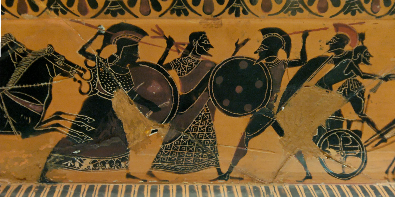 guerrier Spartiate antique