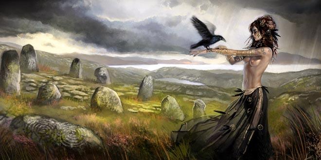 dieux celtes morrigan