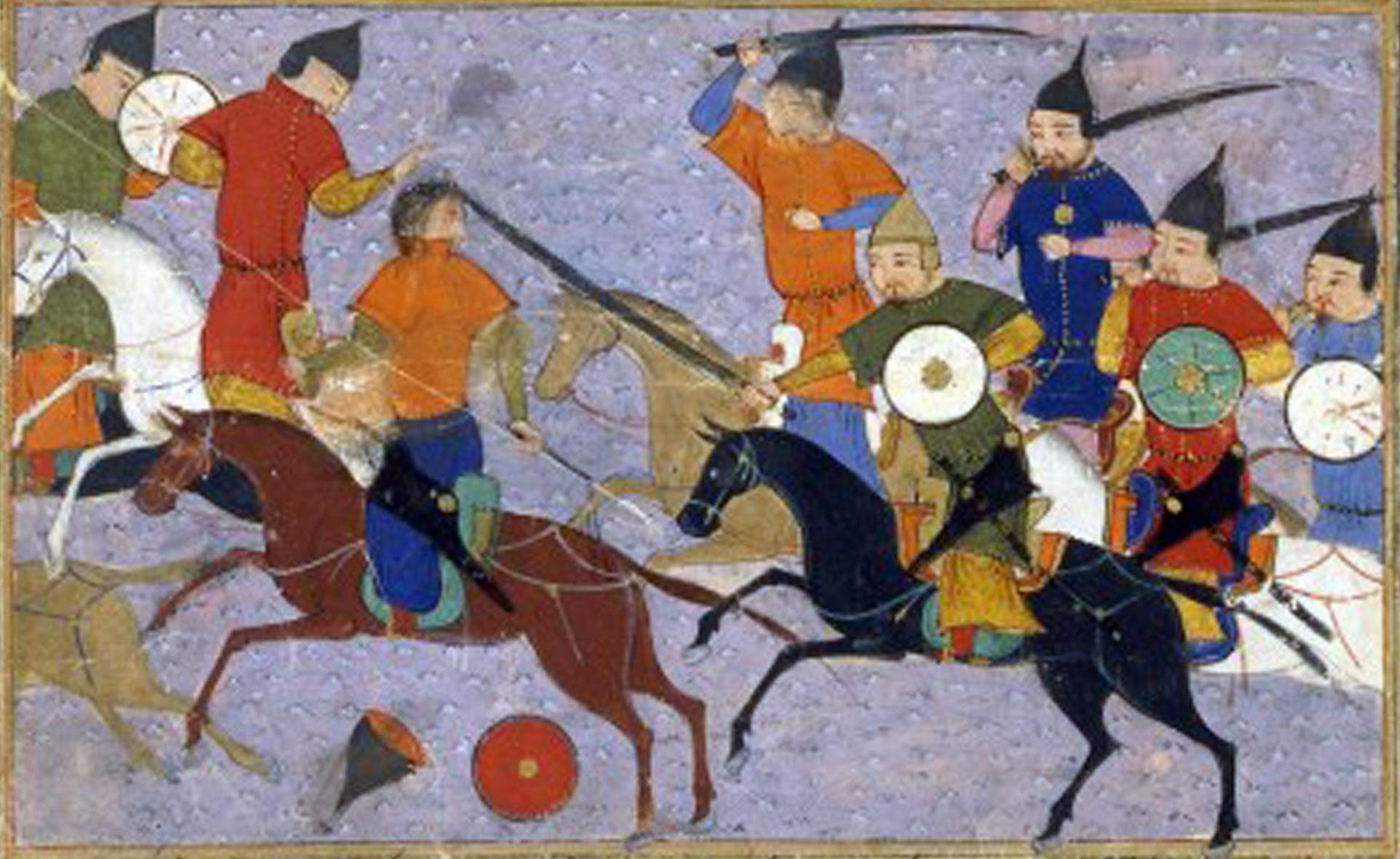 Bataille mongole sous Gengis Khan